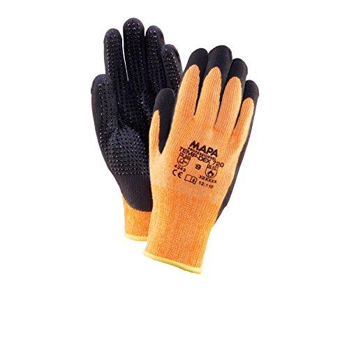 Mapa 720 Temp-Dex Black Dotted Cut Level 3 Orange Gloves