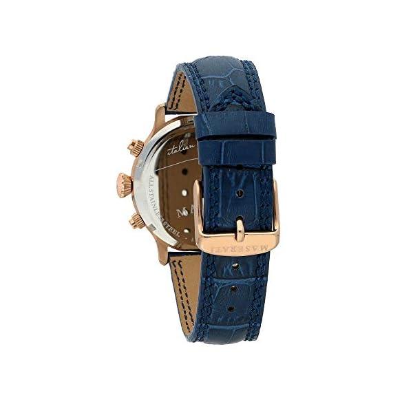 Orologio da uomo, Collezione Epoca, movimento al quarzo, cronografo, in acciaio, PVD oro rosa e cuoio - R8871618007 4