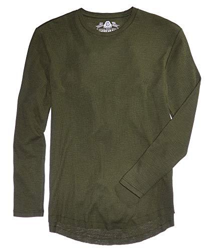 American Rag Mens Henley Crew Thermal Shirt Green L