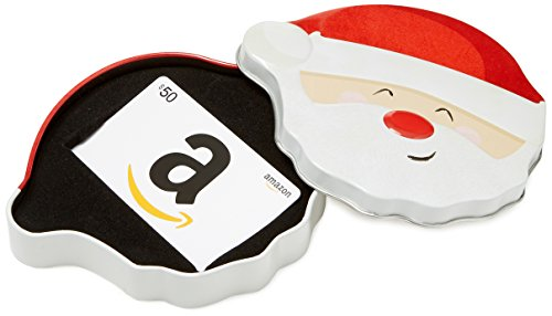 Amazon.com $50 Gift Card in a Santa Smile Tin (Christmas Cards Amazon)