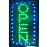 CHENXI Led Open Sign Vertical 48X25 CM indoor Ultra Bright shop store sign of led (48 X 25 CM, D)