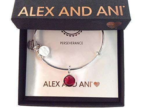 January Birthstone Bracelet - Alex and Ani January Charm Bangle Bracelet - Shiny Silver Finish