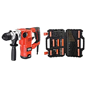 BLACK+DECKER KD1250K-QS Martello Tassellatore e Scalpellatore, 1250 W, 3.5 J + A7200-XJ Titanium Set per Forare ed… 413D46OhcYL. SS300
