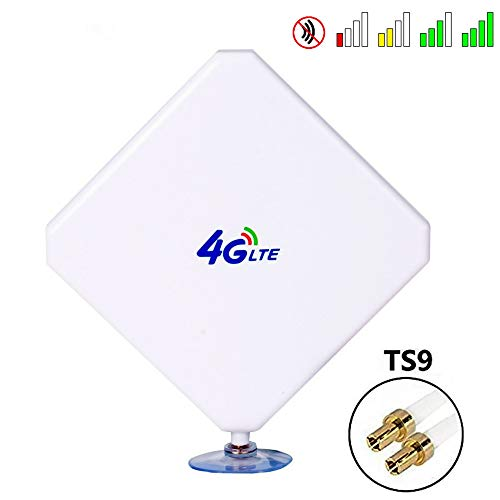 TS9 4G LTE Antenna, 35dBi GSM High Gain Antenna Dual Mimo WiFi Signal  Booster Amplifier Modem Adapter Network Reception Long Range Antenna with  TS9