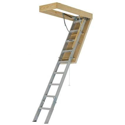 LOUISVILLE LADDER AEE2210 Aluminum Attic Ladder 22.5u0026quot;  sc 1 st  Amazon.com & LOUISVILLE LADDER AEE2210 Aluminum Attic Ladder 22.5