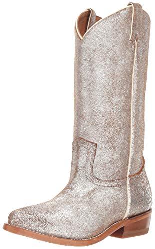 FRYE Women's Billy Pull On Western Boot, Silver/Multi, 6.5 M US