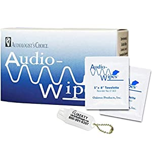 Audio-Wipes Individual Cleaning Towelettes – Box of (30 Wipes) Hearing Aid Cleaning Wipes Towelettes Individually…