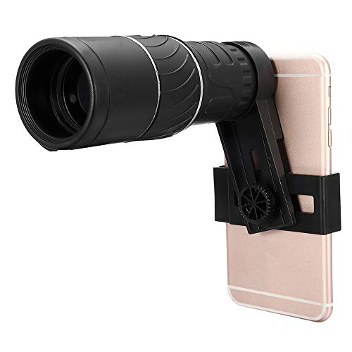 KUANW 16x52 High Power Prism Phone Monocular Quick Smartphone Holder - Waterproof Fog- Proof Shockproof Scope -BAK4 Prism FMC for Bird Watching Hunting Camping Travelling Wildlife Secenery