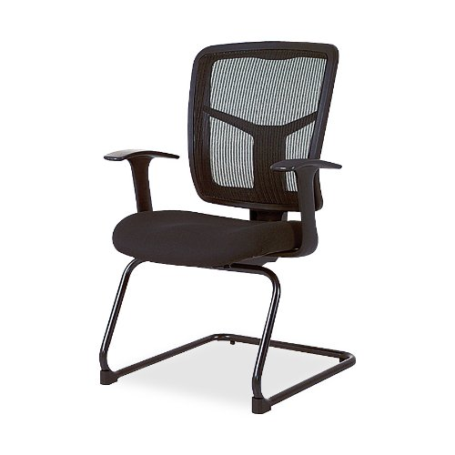 Lorell  Guest Chair, Mesh Fabric, 27