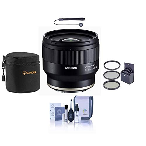 Tamron 20MM F/2.8 DI III OSD Lens for Sony FE - Bundle with 67mm Filter Kit, Lens Case, Cleaning Kit, Capleash II