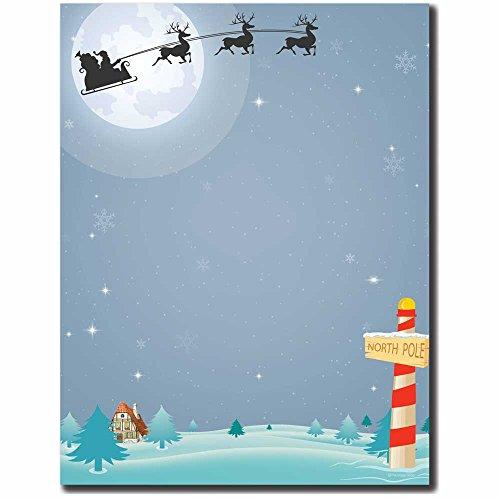 North Pole Letterhead Laser & Inkjet Printer Paper, - Paper Santa