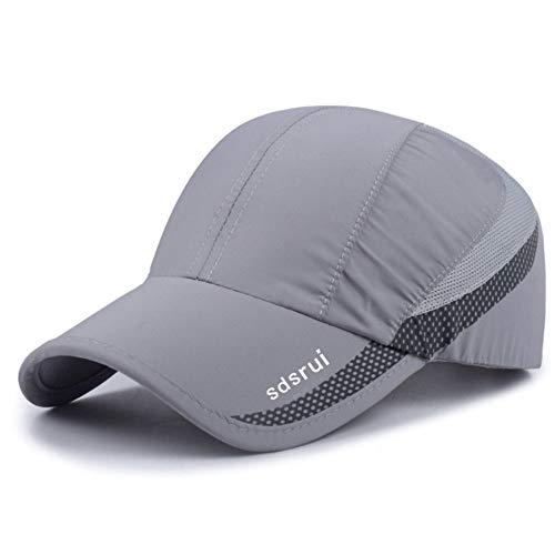Clape Baseball Cap Outdoor Sports Running Performance Hat UV Protection Ultra Thin Lightweight Waterproof Quick Dry Portable Mesh Hat Light grat