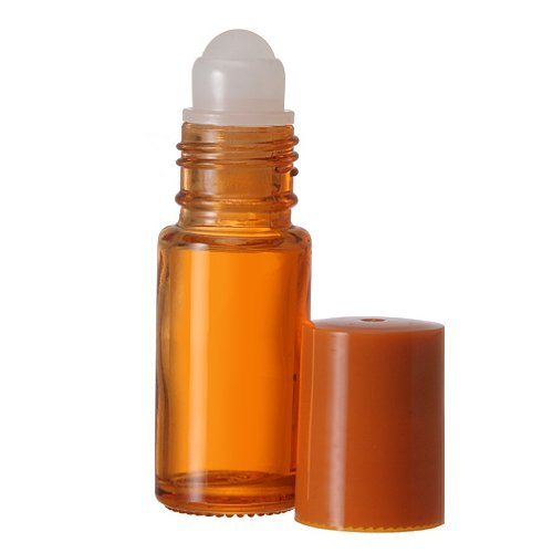 30 ml. Glass Roll on Bottle. Perfect for Essential Oils Aromatherapy, Perfume and Cologne. Plastic Roller. Pipettes Included ... (12 Bottles, Orange)