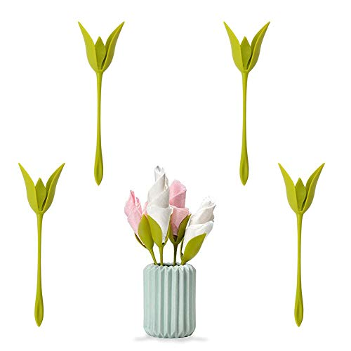 Bloom Napkin Holders DIY Flower Floral Holder for Birthday Wedding Party Table Decoration (Set of 4) from AISION