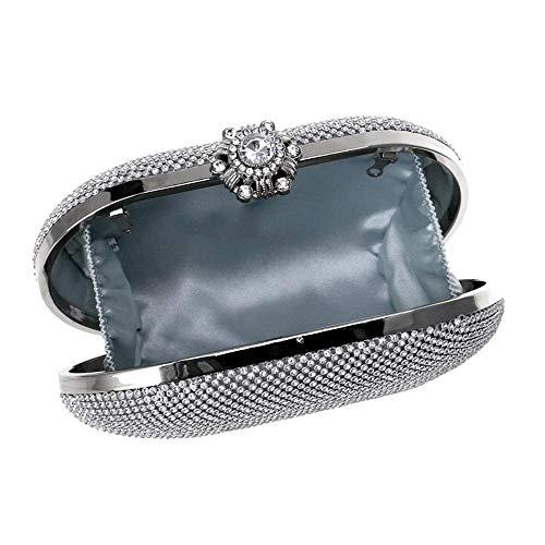 Tote Party Sposa Da Nightclub Borsa Di colore Lusso Wedding Piccola Pelle Oro Intarsio Sera Scamosciata Silver In Clutch Chen Diamante 7P5ZBwqgg