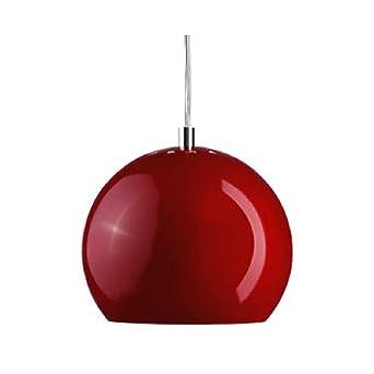Laqué Frandsen Suspension Plafond Boule Brillant Rouge Luminaire Yb76ygf