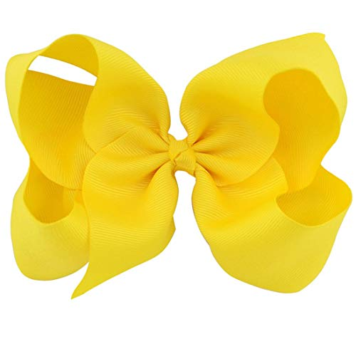 Light Yellow Grosgrain Bow Clip - Extra Large