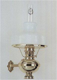 Aladdin Deluxe Brass Wall Bracket Hanging Lamp Drape Shade 10 Inch - Opal
