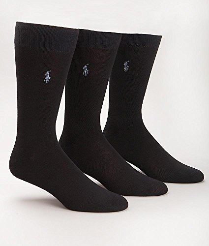 Polo Ralph Lauren Super Soft Crew Dress Socks 3-Pack, One Size, - Lauren Ralph Blue Polo Navy