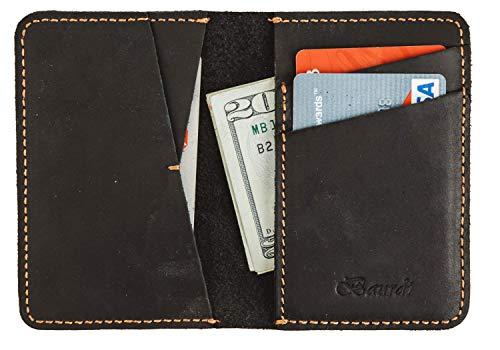 (Baurdi Aviator Men's Full Grain Genuine Leather Bifold Wallet Billfold (Black))