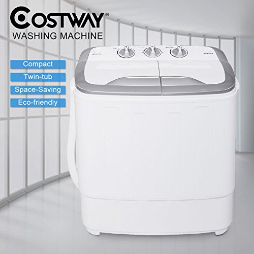 Costway Twin Tub Washing Machine Home Washer Spin Dryer Portable Compact...