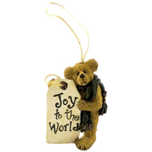 Boyds Bears Resin JOY TO THE WORLD ORNAMENT 24577 Christmas Bearstone - Resin Boyds Ornaments