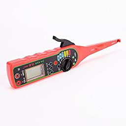 IZTOSS Multi-function Auto Circuit Tester Multimeter Lamp Car Repair Automotive Electrical Circuit Testers Multimeter 0V-380V Voltage red