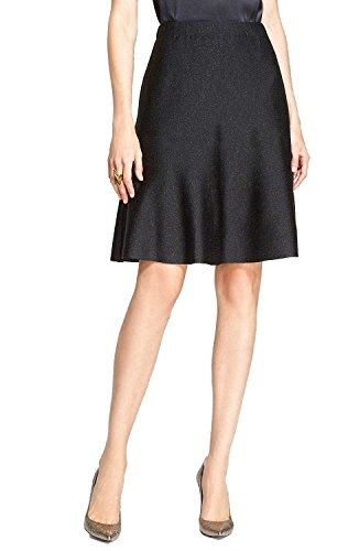 - ompson Collection Shimmer Milano Knit Flared Skirt, Size 4 as picture4
