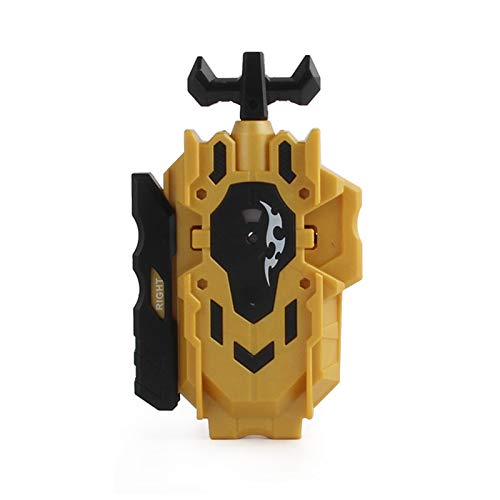 Poveyan BeyLauncher Battling Top Launcher LR (Left & Right Turning) & Grip Tool Compatible with All Bey Burst Series Bey Battling Blade(Gold)
