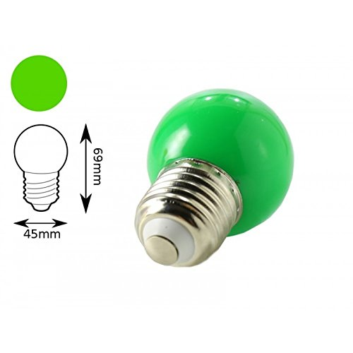 Jandei - Bombilla LED color verde E27 1W interior decorativa: Amazon.es: Iluminación