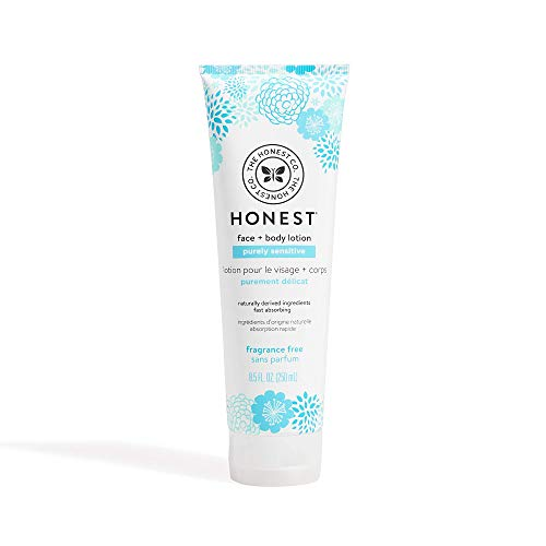 The Honest Company Purely Sensitive Face + Body Lotion   Dermatologist Tested   Fragrance Free   Body Lotion for Sensitive Skin   Baby Lotion   Calendula & Aloe   8.5 Fl Oz .2 pack