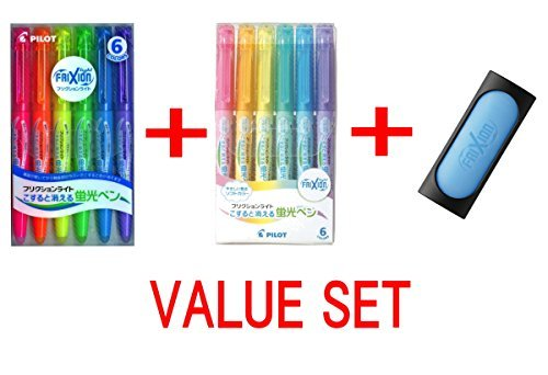 Pilot Frixion 6 Color Eraser Value set ( 3 Items)