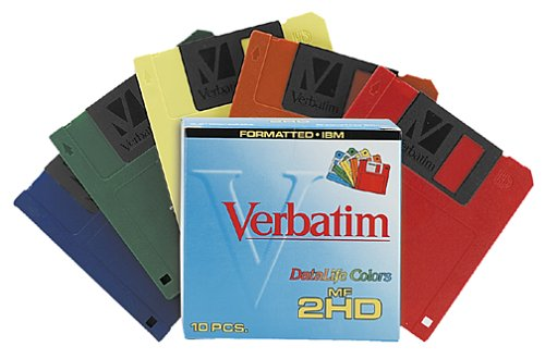 Verbatim 3.5IN HD 1.44MB Pre-Formatted IBM Rainbow Colors (10-Pack) (Discontinued by Manufacturer) ()