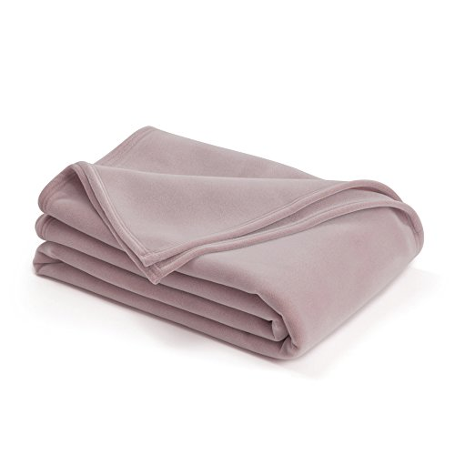 Fleece Blanket Soft Martex - The Original Vellux Blanket - Twin, Soft, Warm, Insulated, Pet-Friendly, Home Bed & Sofa - Plum Rose