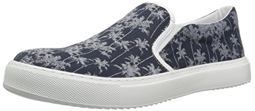 Tropical Canvas Tropical Men A Armani X Slip Exchange Printed Navy Sneaker 7wqgT8q