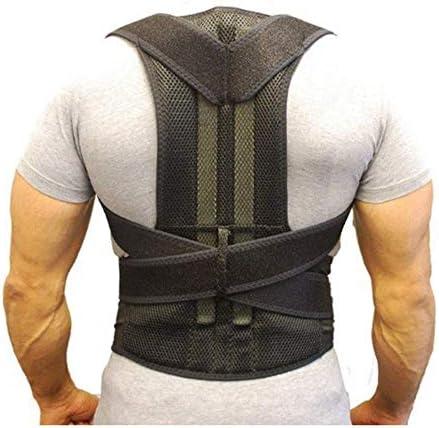 男性女性用の姿勢補正背部肩脊柱ストラップ、腰下部の理学療法装具、背中の痛みを和らげる姿勢トレーナー,XL