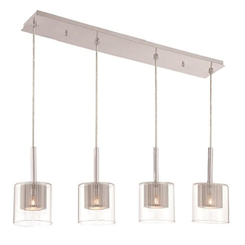 Rectangular Glass Pendant Lighting in Florida - 5