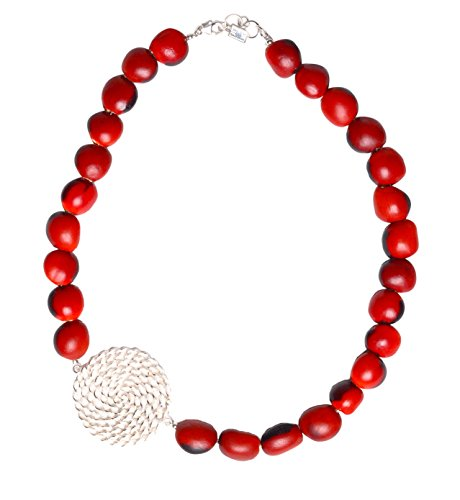 - Peruvian Necklace for Women - Huayruro Red Black Seeds Strand - Natural Handmade Jewelry by Evelyn Brooks