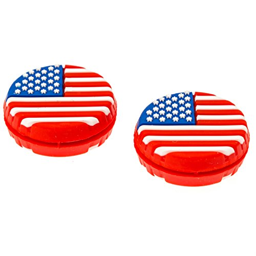 TennisGeek American Flag Tennis Dampener (3 Pack) (USA)