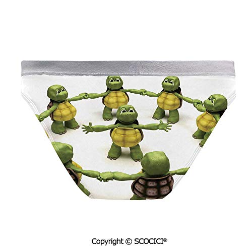 SCOCICI Sexy Women Panties Ninja Turtles Dancing As
