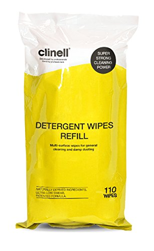 Clinell Detergent Wipes - Tub of 110 Refill Gama Healthcare CDT110R