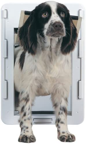 PetSafe Easy Fit Pet Door, Medium, White, S2-MW-11
