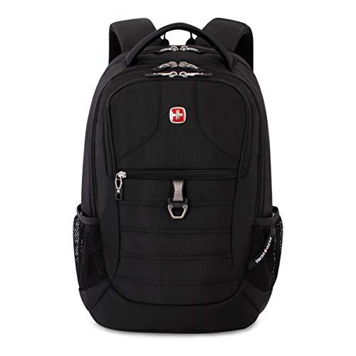 SWISSGEAR Large, Padded, ScanSmart 15-inch Laptop Backpack   TSA-Friendly Carry-on   Travel, Work, School   Men's and Women's - Black by Swiss Gear (Image #4)