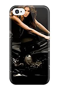 For Iphone 4/4s PC Phone Case Cover(hope Dworaczyk On A Bike)
