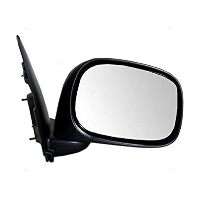 Passengers Manual Side View Mirror Textured Replacement for Dodge Pickup Truck 55077438AJ