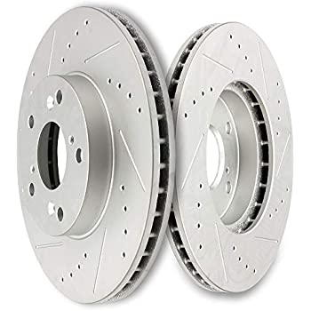 11.10 5 Lug REAR Drilled and Slotted Brake Rotors Detroit Axle Performance Grade for Acura TSX Honda Accord 282mm