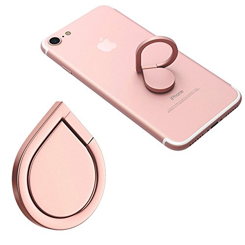 Cell Phone Ring Stand Holder - 360°Rotation Phone Grip Kickstand - Smartphone Ring for iPhone X 8 7 7 Plus 6S 6 5 5S Samsung Galaxy Tablet (Rose - Message Ring Basketball