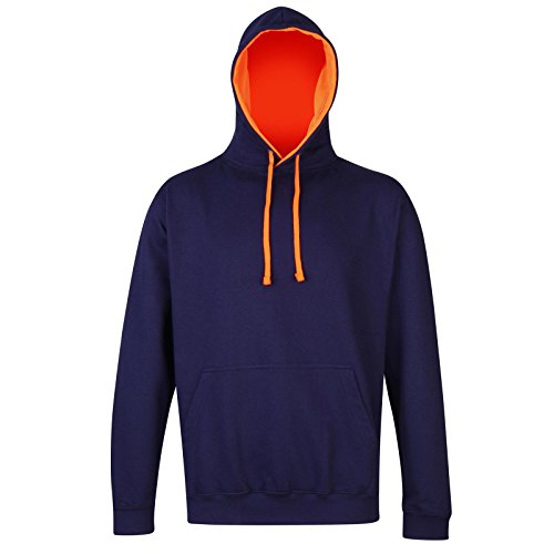 AWDis - Sudadera con capucha - para mujer Oxford Navy/ Electric Orange