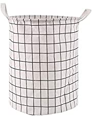 Hislaves Household Storage Basket for Clothes Toys,Foldable Large Capacity with Handle Waterproof Square Laundry Storage Bag for Bedroom Living Room Dorm