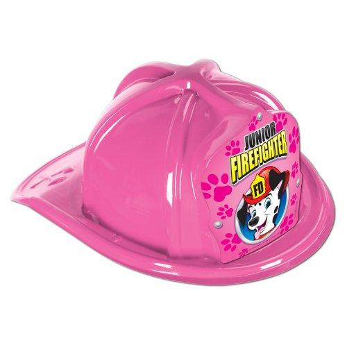 pink plastic jr firefighter hat